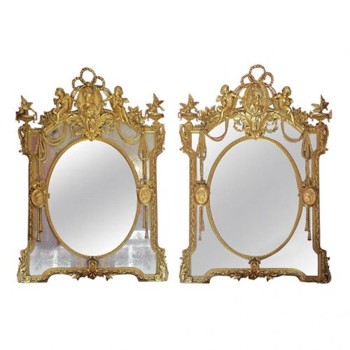 Pair of parecloses mirrors