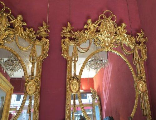 Pair of parecloses mirrors -