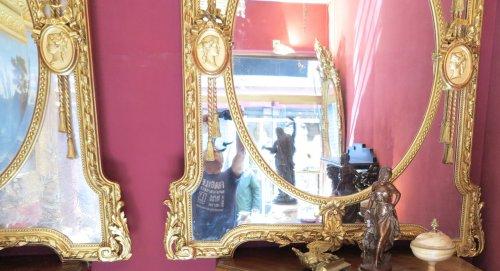 Pair of parecloses mirrors - Napoléon III