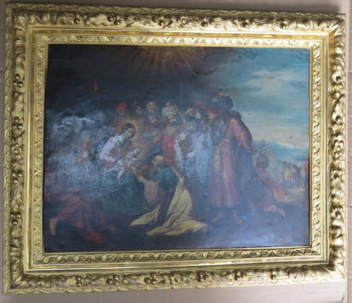 """Nativity"" oil on copper, attributed to Frans Francken le jeune - Paintings & Drawings Style Louis XIV"