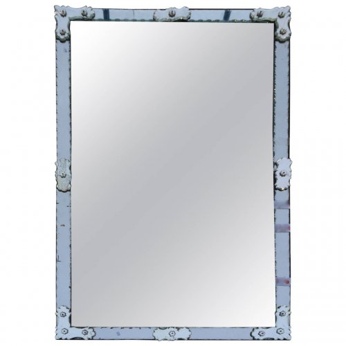 Late 19th century Venetian mirror with mercury silvering