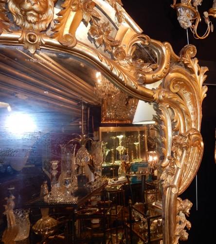 Giltwood mirror circa 1850 - Napoléon III