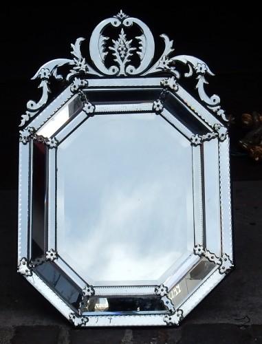Tain silver mirror circa 1880/1900 - Mirrors, Trumeau Style