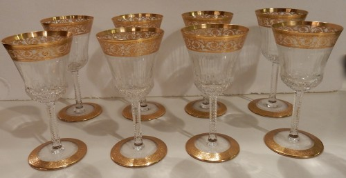 20th century - 1950'  Crystal Service From St Louis Thistle 90 pieces