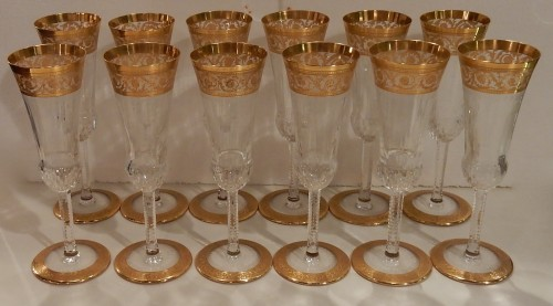 1950'  Crystal Service From St Louis Thistle 102 pieces - 50