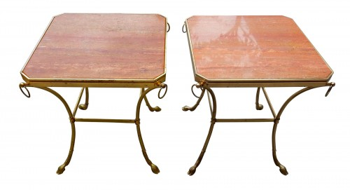 1970 'Pair of Octagonal Pedestals Jacques Charpentier