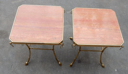 Furniture  - 1970 'Pair of Octagonal Pedestals Jacques Charpentier