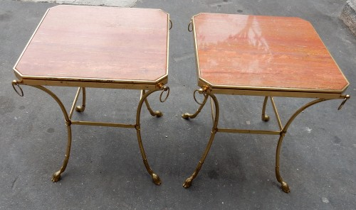 20th century - 1970 'Pair of Octagonal Pedestals Jacques Charpentier