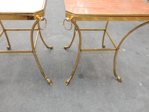 Antiquités - 1970 'Pair of Octagonal Pedestals Jacques Charpentier