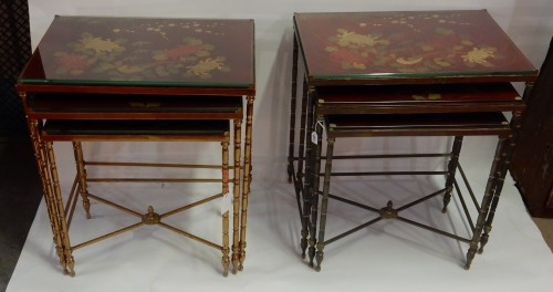 Pair  of 3 Nesting Tables -