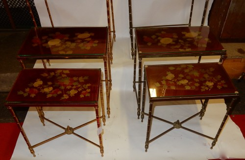 20th century - Pair  of 3 Nesting Tables
