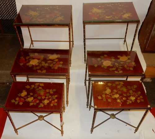 Pair  of 3 Nesting Tables - 50