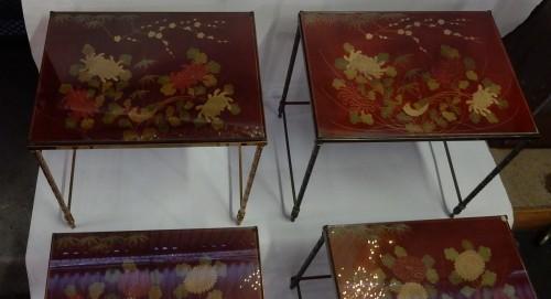 Antiquités - Pair  of 3 Nesting Tables