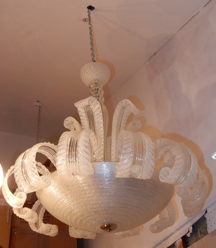 Antiquités - Crystal chandelier by Barovier y Toso