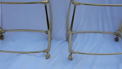 Pair of Gilt bronze Tables - 50