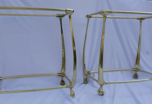 Antiquités - Pair of Gilt bronze Tables