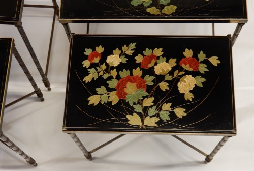 Antiquités -  Pair of of Nesting Tables - 1950/70'