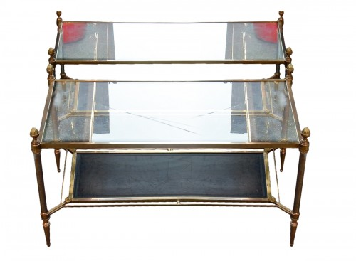 1950/70 Maison Jansen - Pair of Cofee Table Levels Glass