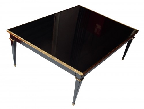 1950/70 Coffee Table Wood Lacquered Black Maison Jansen