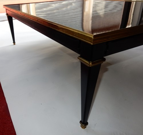 Furniture  - 1950/70 Coffee Table Wood Lacquered Black Maison Jansen
