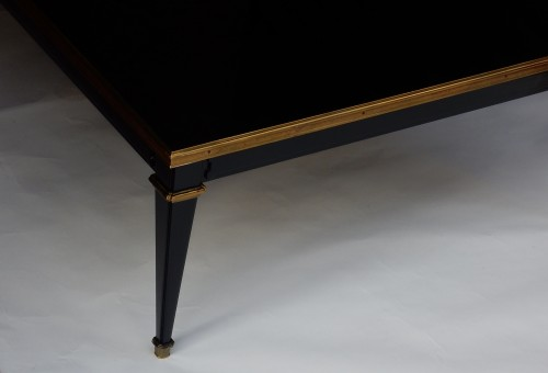 1950/70 Coffee Table Wood Lacquered Black Maison Jansen -
