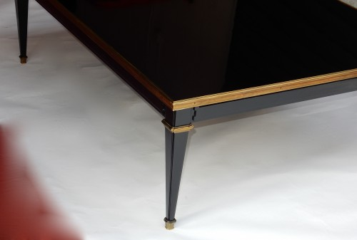 20th century - 1950/70 Coffee Table Wood Lacquered Black Maison Jansen