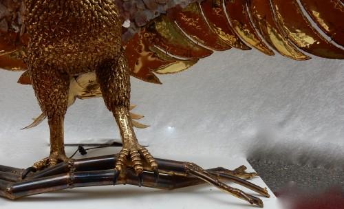 """Antiquités - 1970 """"Eagle Lamp"""" Signée Isabelle Faure"""