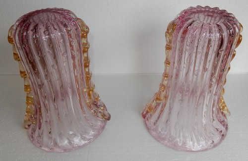 Glass & Crystal  - Pair of Murano vases or similar signed Toso