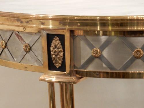 Furniture  - 1950/70? Pedestal Table Maison Jansen Or Maison Charles