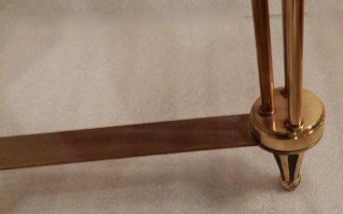 Antiquités - 1950/70? Pedestal Table Maison Jansen Or Maison Charles