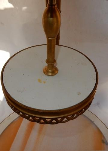 Pair of gilt bronze pedestal tables signed Jansen - Furniture Style 50