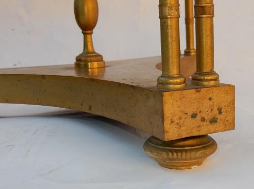 20th century - Pair of gilt bronze pedestal tables signed Jansen