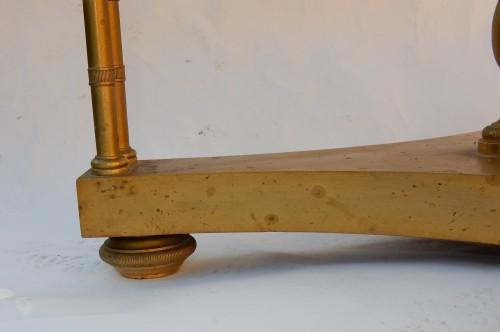Pair of gilt bronze pedestal tables signed Jansen - 50