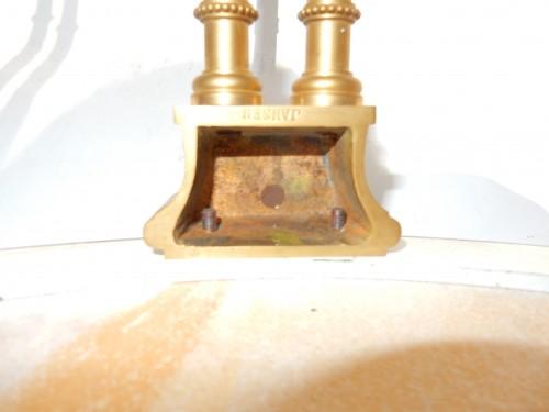 Antiquités - Pair of gilt bronze pedestal tables signed Jansen