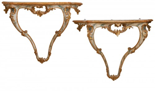 A pair 18th century italian consoles