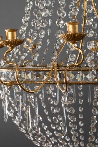 18th century Italian chandelier - Lighting Style Louis XVI