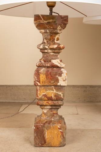 Lighting  - Paire de lampes balustre en marbre Italie début du 18ème siècle