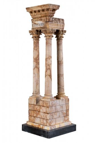 Grand tour marble temple circa 1800