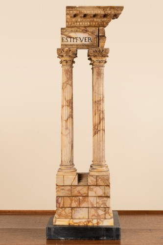 Grand tour marble temple circa 1800 - Decorative Objects Style