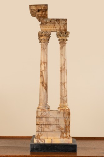 Decorative Objects  - Grand tour marble temple circa 1800