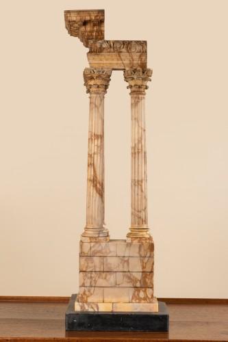 Grand tour marble temple circa 1800 -