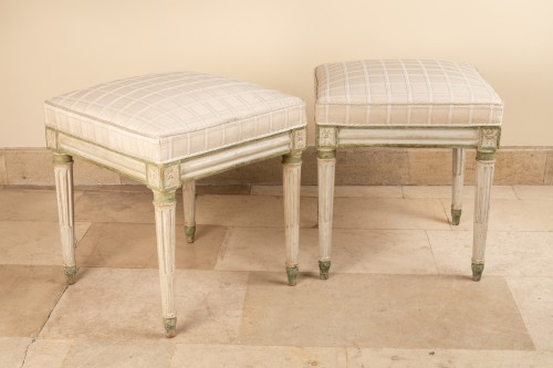 Paire de tabourets d'époqe Louis XVI - Seating Style Louis XVI