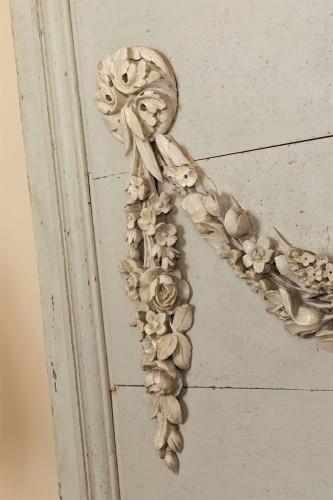 Pair of painted wooden panels - Louis XVI