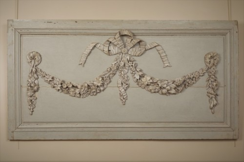 Louis XVI - Pair of painted wooden panels