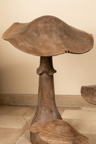 19th century - Wooden mushrooms late 19th century