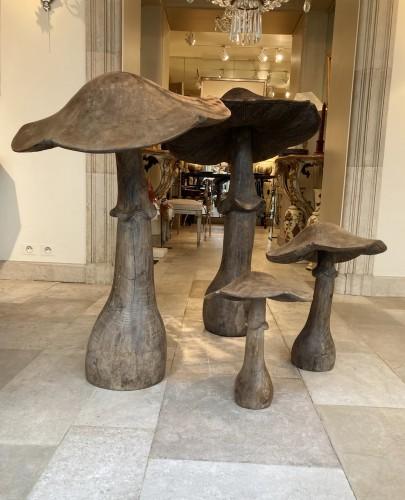 Wooden mushrooms late 19th century -