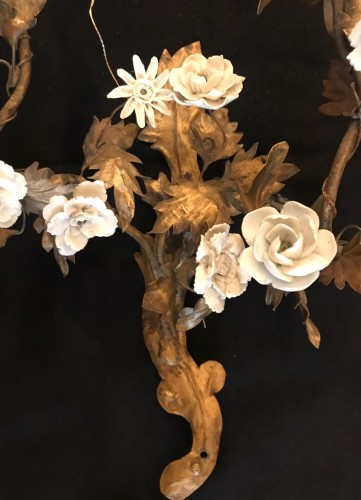 A Pair of 18 th century gilt tole wall appliques - Louis XV