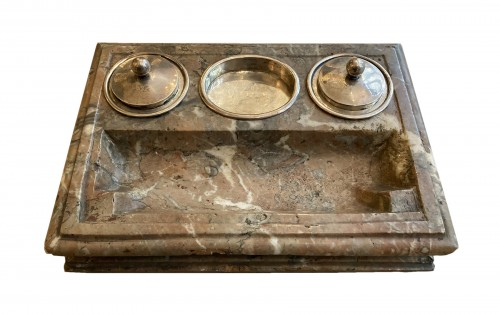 18th century marble ink stand