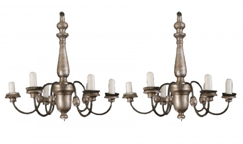 pair of 18th century chandeliers