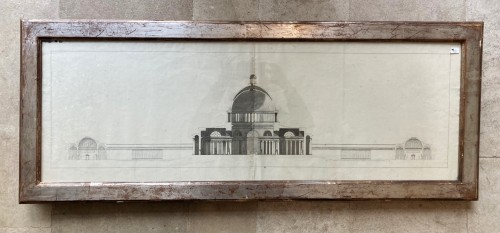 Pair of architectural drawings, french school 18th century - Paintings & Drawings Style